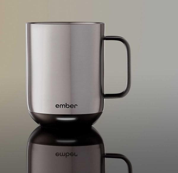 Ceramic Mug 2 - 295 ml CM191007EU Tasse mit Wunsch-Temperatur in Metallic Edelstahl