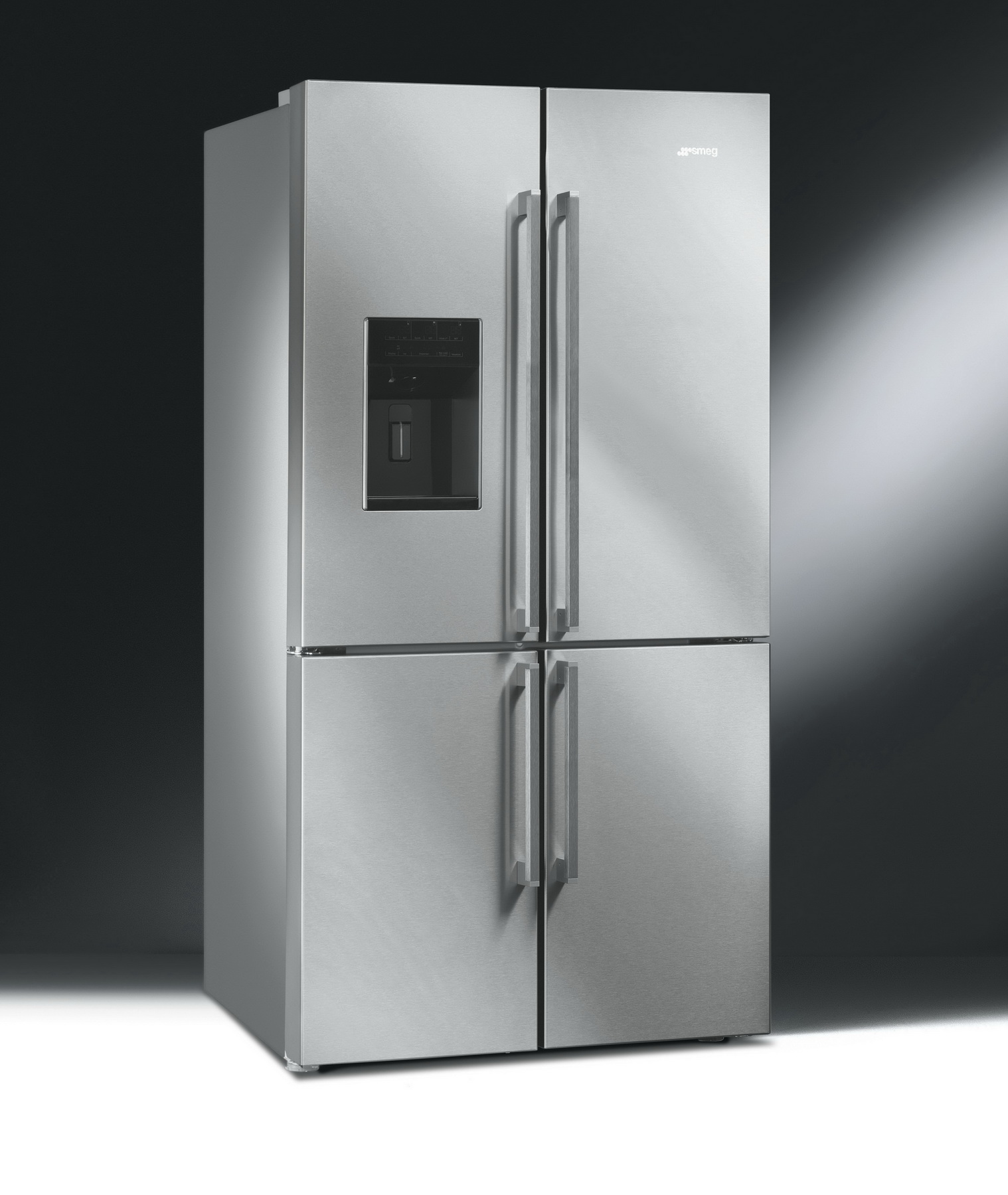 smeg fq75xped french door k hlschrank mit eismaschine 91 cm breite. Black Bedroom Furniture Sets. Home Design Ideas