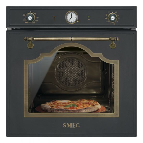 smeg sfp750 einbaubackofen mit pizzafunktion und pyrolyse. Black Bedroom Furniture Sets. Home Design Ideas