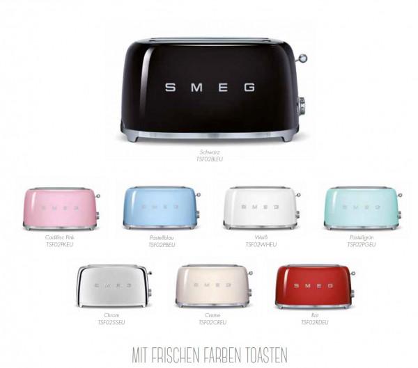 TSF02 Toaster für 4 Scheiben im 50er Jahre Retro Design
