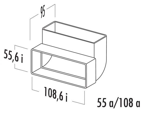 N-RBV 100 Rohrbogen vertikal 90°, Verbindungselement, weiß