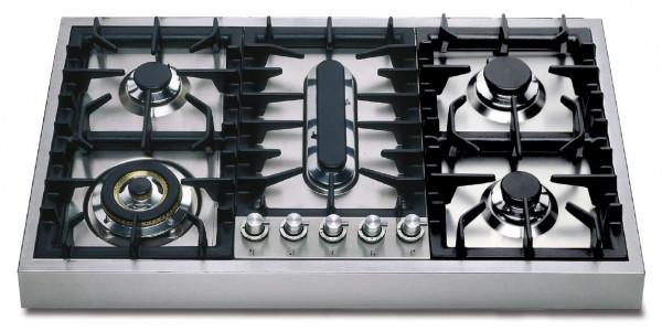HAP95P Professional Gaskochfeld Grill 90 x 52 cm 13,1 kW im Edelstahl-Gehäuse