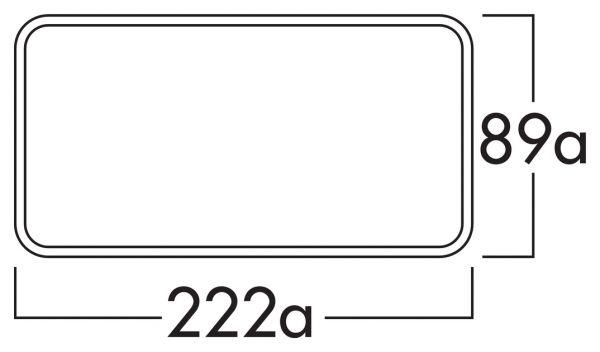 F-VRO 150 Flachkanalrohr, Lüftungsrohr, weiß