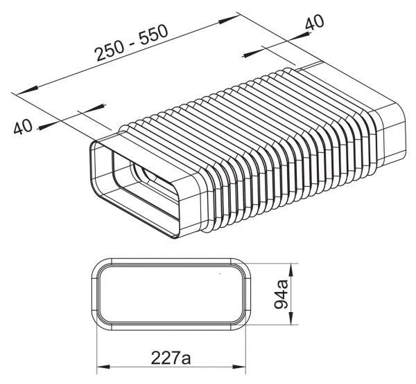 F-RBFLEX 1 System 150 Rohrbogen, Verbindungselement, weiß