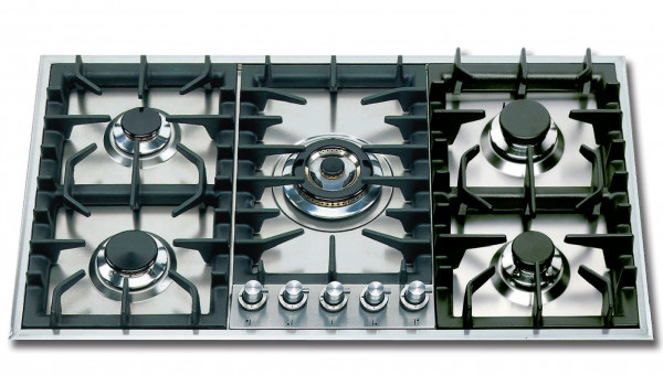 HP95C Professional Gaskochfeld 90 cm 5 Flammen 13,1 kW