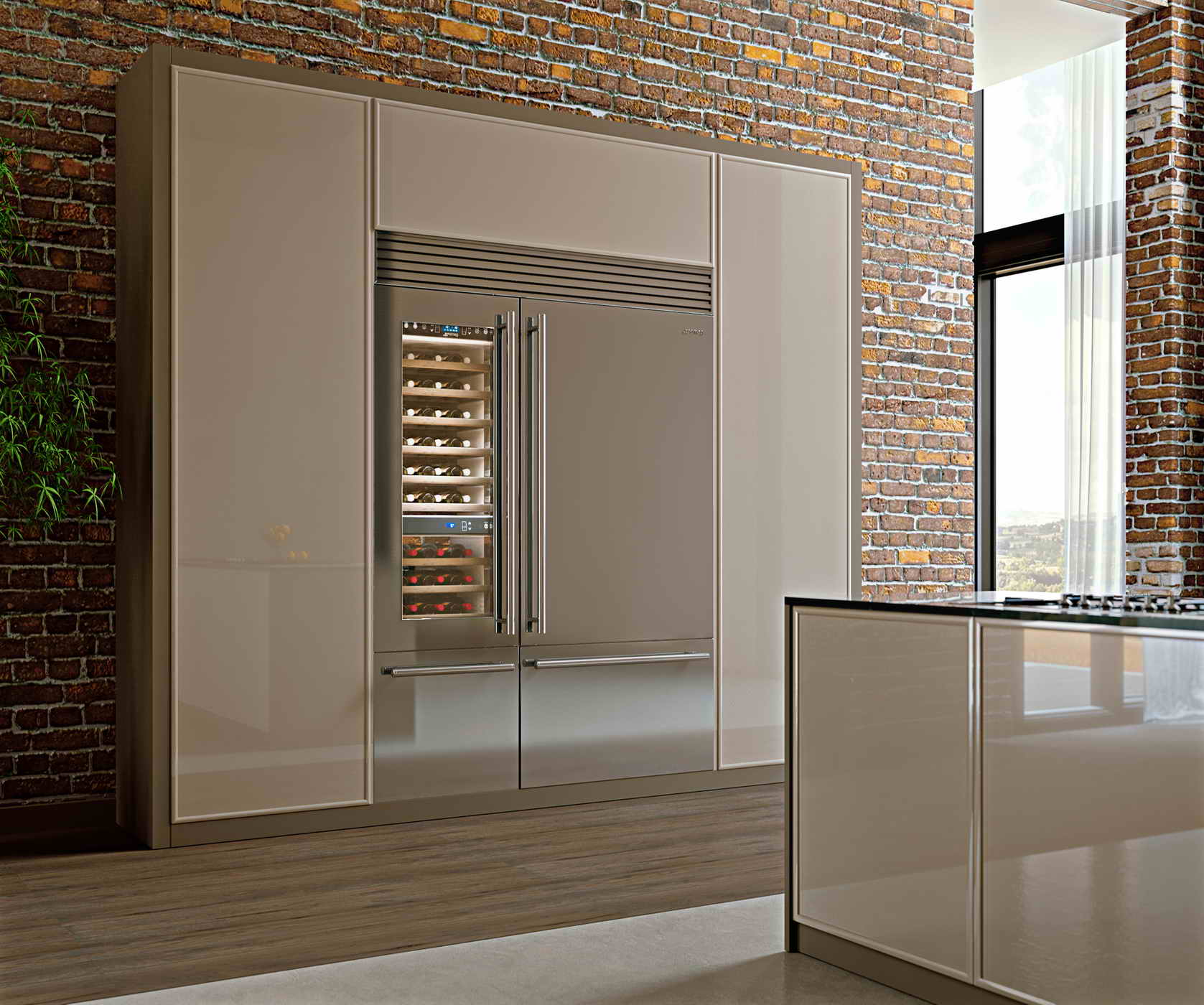 smeg luxury side by side k hlschrank 150 cm design volledelstahl rf396rsix plus wf366ldx