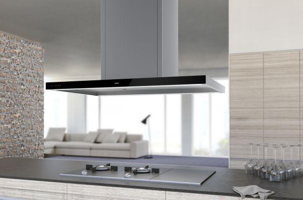 Inselhaube Glassline 100 cm