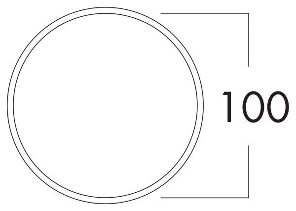 K-Klima-R 100/100 Mauerkasten, ziegelrot