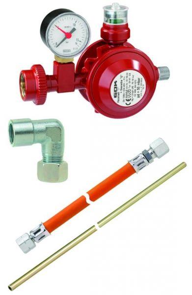 Anschluss-Set für Gasgeräte zum Betrieb mit Gasflasche