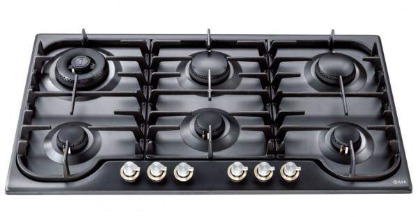 HCB906 Gaskochfeld 90 cm 6 Flammen 14,1 kW in 4 Farben