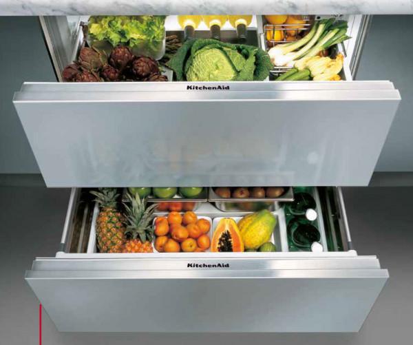 Kitchenaid Kcbdx 88900 Kühlschublade Mit Zwei Schubfächern In 90 Cm