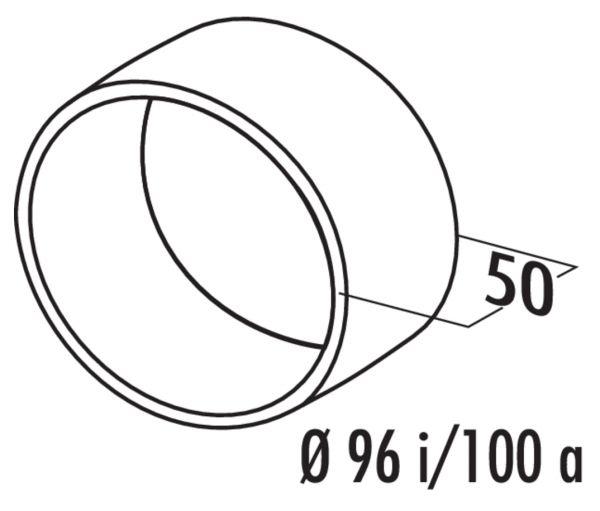N-VBS 100 Rohrverbinder round, Verbindungselement, weiß