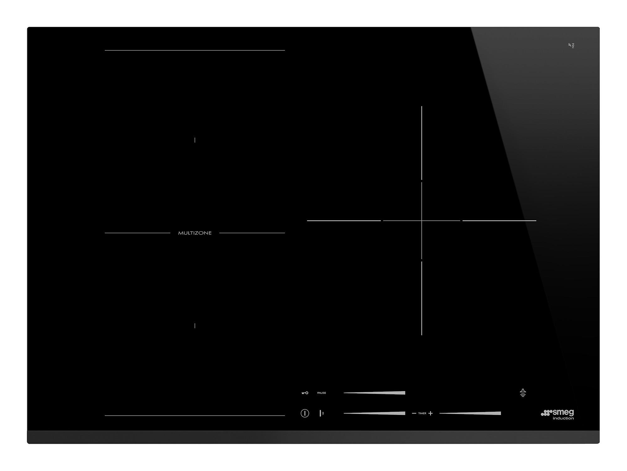 smeg si1m7733b einbau kochfeld mit induktion 70 cm neutrales design. Black Bedroom Furniture Sets. Home Design Ideas