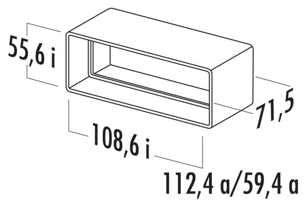 N-RVB 100 Rohrverbinder, Verbindungselement, weiß