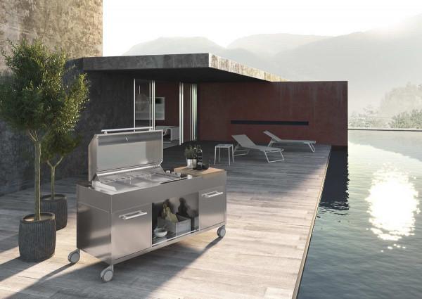 BBQ1740M Grillwagen oder Aussenküche mit Teppanyaki Grill-Copy