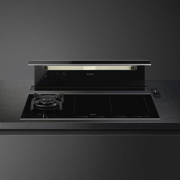 KITKDSNX Schwarzglas/Edelstahl-Profil für KSDD90VN-2