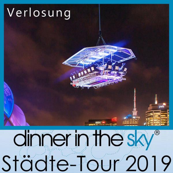 Dinner in the Sky - Verlosung von 2 x 8 Tickets