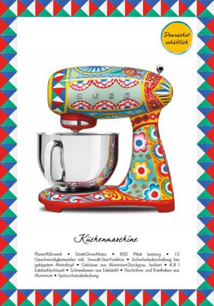 Smeg Smf03dgeu Kuchenmaschine Im Dolce Gabbana Design