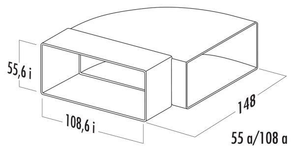 N-RBH 100 Rohrbogen horizontal 90°, Verbindungselement, weiß