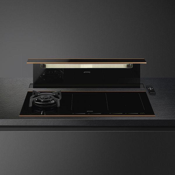 KITKDSNRA Schwarzglas/Kupfer-Profil für KSDD90VN-2
