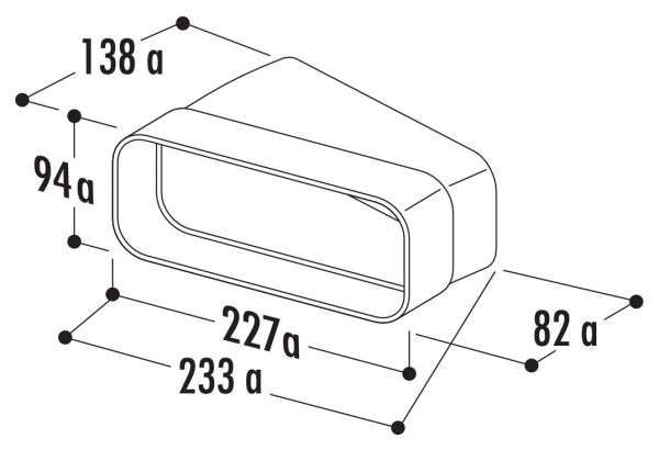 F-RBH 150 Rohrbogen horizontal 15°, Verbindungselement, weiß