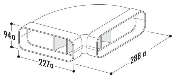 F-RBH 150 Rohrbogen horizontal 90°, Verbindungselement, weiß