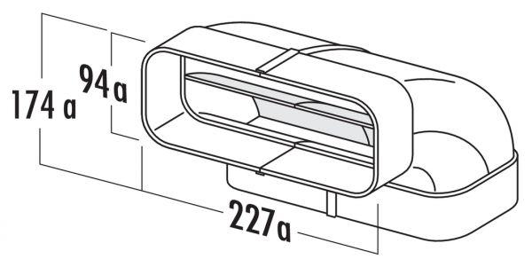 F-RBV 150 Rohrbogen vertikal 90°, Verbindungselement, weiß