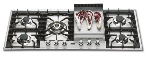 HP125F Professional Gaskochfeld 120 x 51 cm mit Grillplatte 16,2 kW